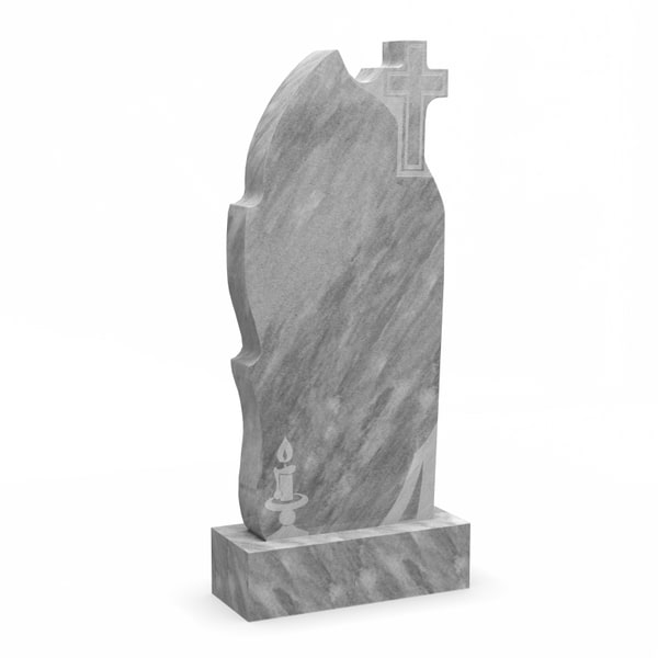 Памятник на могилу из мрамора М-8
